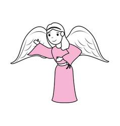 cute angel cartoon vector image vector image