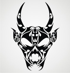 Devil head tattoo design vector