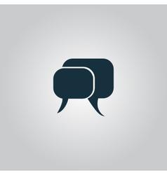 dialogue quote icon vector image