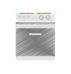 Drawing stove appliance icon vector