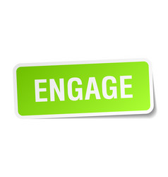 Engage square sticker on white vector
