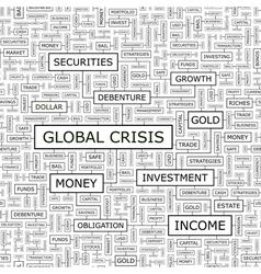 GLOBAL CRISIS vector image