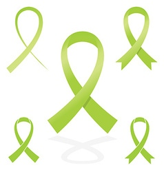 green sign ribbon cancer symbol vector image vector image