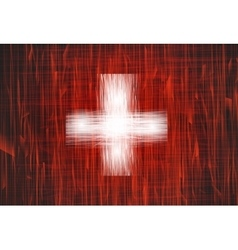 Grunge swiss flag vector image
