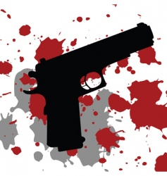 gun blood vector image