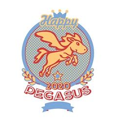 Happy pegasus print vector image vector image