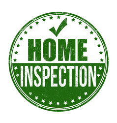 Home inspection grunge rubber stamp vector