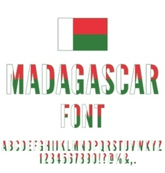 Madagascar flag font vector