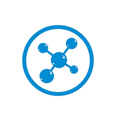 Molecule icon single color symbol vector image