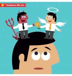 Moral choice business ethics and temptation vector image
