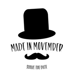 Movember shave the date poster vector