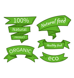 Natural food eco organic product vector