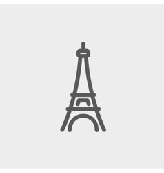 Paris Tower thin line icon vector image