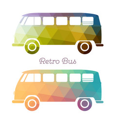 Retro multicolor bus vector