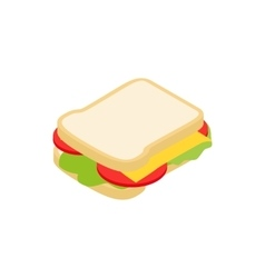 Sandwich icon isometric 3d style vector image