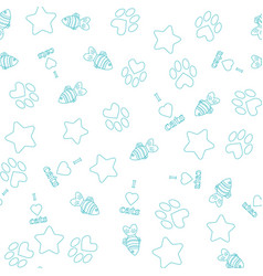 Seamless pattern with pet elements vector