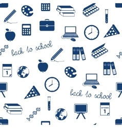 Seamless school icons pattern vector