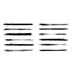 Set of grunge brush strokes in vector