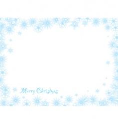 snowflake christmas white vector image