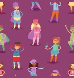 superhero kids super hero child or kid in vector image vector image