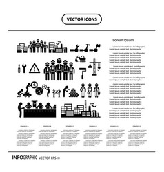 Under construction in industry info graphic icon vector