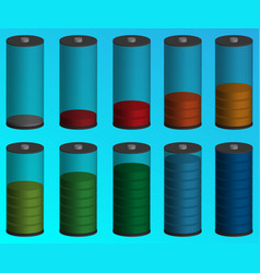 Volumetric color indicator of the battery vector
