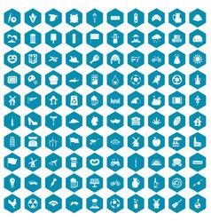 100 mill icons sapphirine violet vector