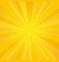 Comics rays background with halftones vector