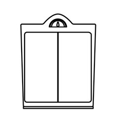Weight scale health care measure outline vector