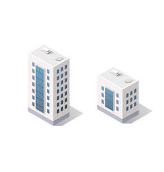 3d isometric dimensional city building house is a vector