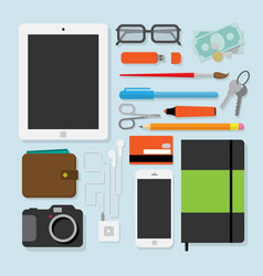 Flat design style of every day things vector