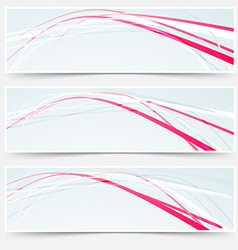 Fast speed rapid red lines web banners set vector
