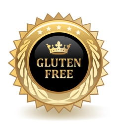 Gluten free badge vector