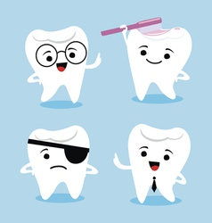 Tooth characters vector