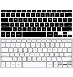 Modern computer keyboards background vector