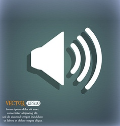 Speaker volume sign icon sound symbol on the vector