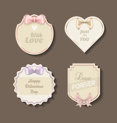 Classic love stickers for the Valentines day vector image