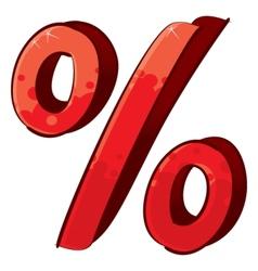 Artistic percent sign vector