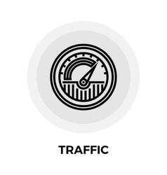 Traffic line icon vector