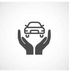 Icon car insurance vector