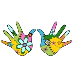 baby hand painted silhouettes vector image vector image