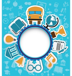 Background with education icons vector image vector image