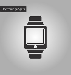 Black and white style icon digital watch vector