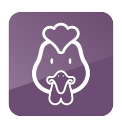 Chicken icon Animal head vector image vector image