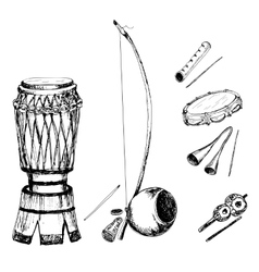 Collection of musical instruments vector