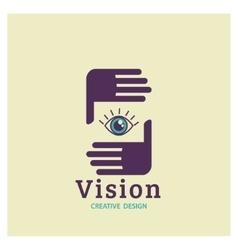 Eye logo vision creative vision logotype vector