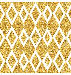 Golden geometry glitter background vector