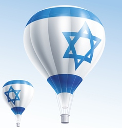 Hot balloons painted as israel flag vector