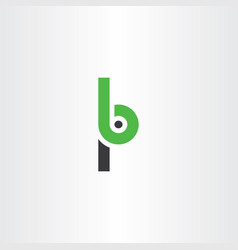 Letter p and b logo icon vector