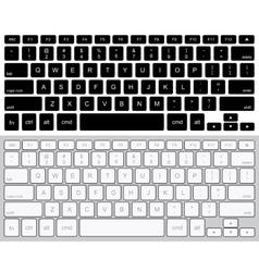modern computer keyboards background vector image